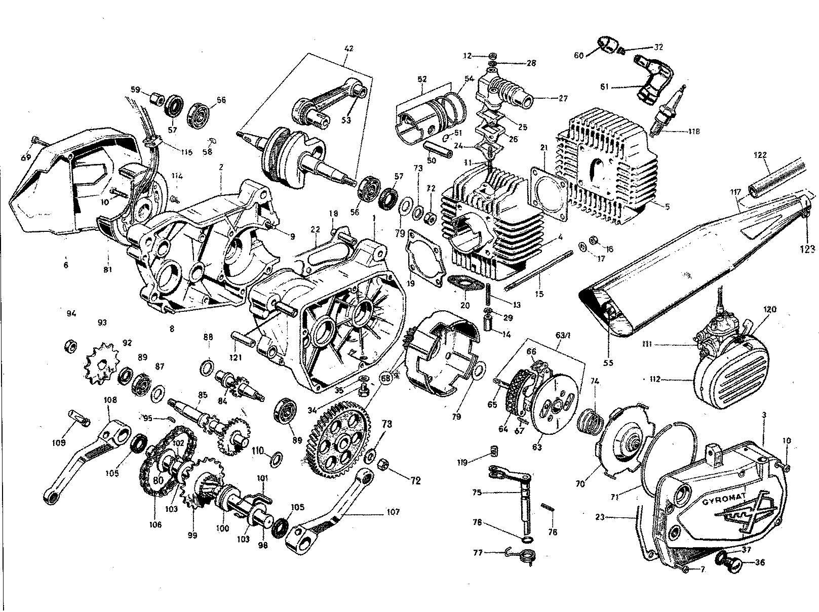 Motor Franco Morini model Tenor