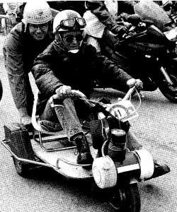 Trehjulet a`la bobslæde.