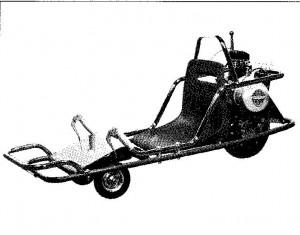 En trehjulet a`la sparemobil.